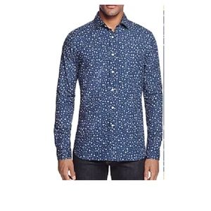 New Bloomingdales Navy floral dress shirt